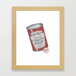 Heinz tomato soup can Framed Art Print