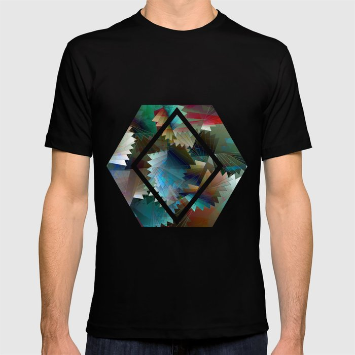 Tribal Octagon Vibes Textured Home Goods Urban Pattern T-shirt
