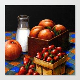 Milk & Fruit Canvas Print