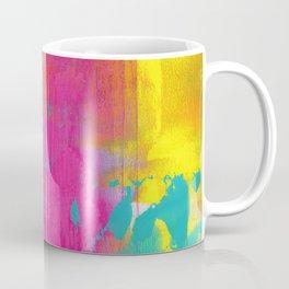 Neon Abstract Acrylic - Turquoise, Magenta & Yellow Coffee Mug