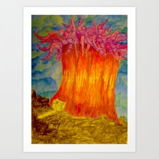 Rene Works Art Print
