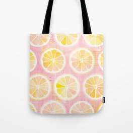 Orange Slices Pastel Fruit Tote Bag