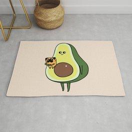 Avocado with Pug Rug