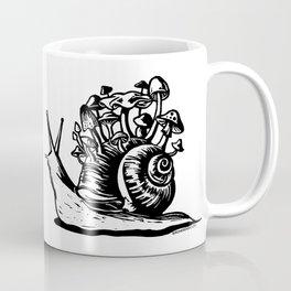 Mushroom Snail Linocut Coffee Mug
