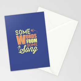 Some Song Stationery Cards