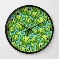 tennis Wall Clocks featuring Tennis by joanfriends