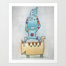Dancing on Fat Cat Art Print