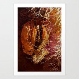 Sax Player Art Print