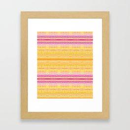 Summer Stripe Framed Art Print
