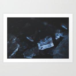 Ice close up Art Print