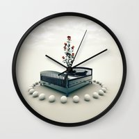 bed Wall Clocks featuring Bed by Pedro Alvarez