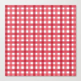 Red Picnic Cloth Pattern Canvas Print