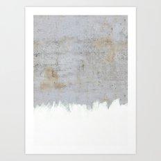 Painting on Raw Concrete Art Print
