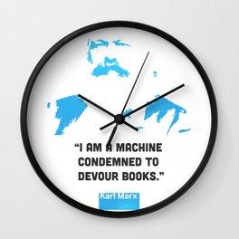 Karl Marx about books Wall Clock