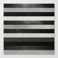 noir Canvas Prints featuring Noir by Elisabeth Fredriksson