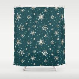 Snowflake Flurries Shower Curtain