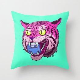 Floppy Disk Tiger Throw Pillow
