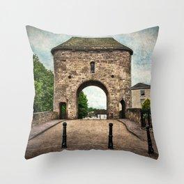 The Bridge At Monmouth Throw Pillow