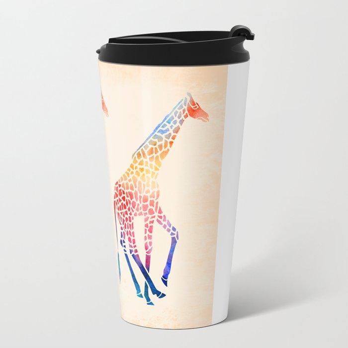 Watercolor Giraffe Travel Mug by mjmstudio | Society6
