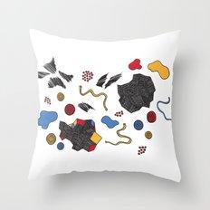doodle conversation Throw Pillow