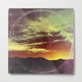 American Sunset As Vintage Album Art Metal Print