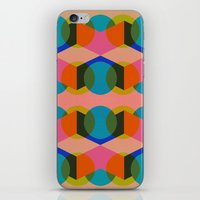 60s iPhone & iPod Skins featuring Geometric 60s by Lilly Marfy