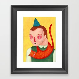 I don't want a cat for my birthday Framed Art Print