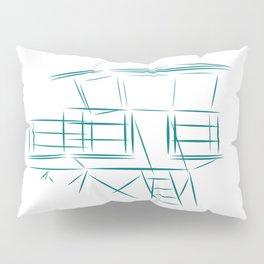 Lifeguard Tower Line Art Pillow Sham
