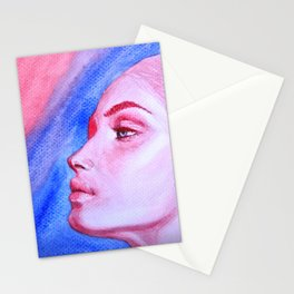 Red Meets Blue Stationery Cards