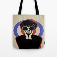 mod Tote Bags featuring Mod by LunaLunaRiotGirl