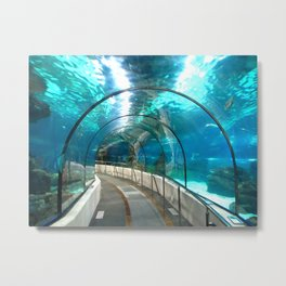 Underwater tunnel Metal Print