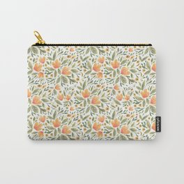 Peachy Flower Medley Carry-All Pouch
