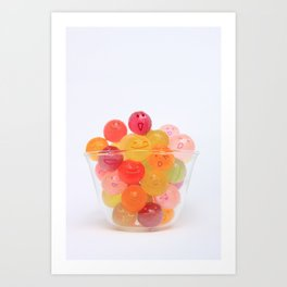 kawaii candy Art Print