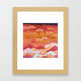 Mountains at day Framed Art Print
