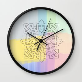 Arabesque Pattern 1 Wall Clock