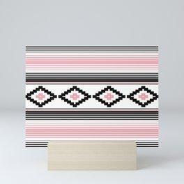 Modern Mexican Serape in Pink Mini Art Print