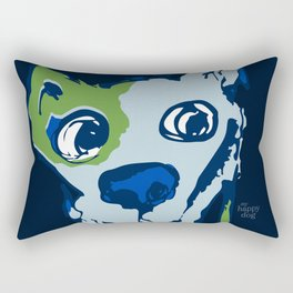 Anton - blue and lime Rectangular Pillow