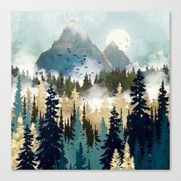 Misty Pines Canvas Print