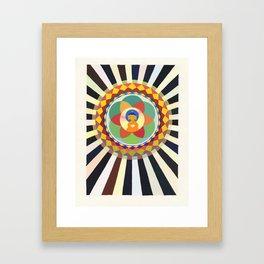Lotus Sutra Buddha Framed Art Print