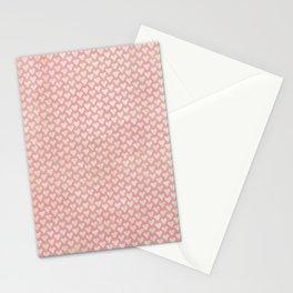 Soft Pink Shabby Hearts Stationery Cards