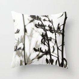 New Zealand Flax silhouettes Throw Pillow