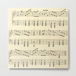 Music Note Pattern Metal Print