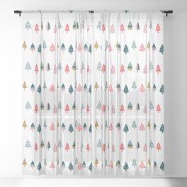 Christmas Trees (Arctic) Sheer Curtain
