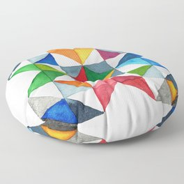 Barn Quilt Floor Pillow