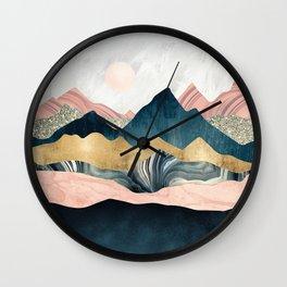 Plush Peaks Wall Clock