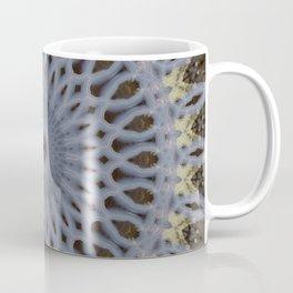 Detailed mandala in grey and brown tones Coffee Mug