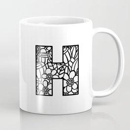 Letter H Coffee Mug
