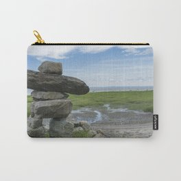 INUKSHUK near St laurent river québec canada Carry-All Pouch