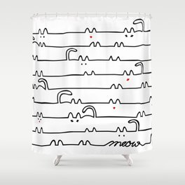 cats meow Shower Curtain