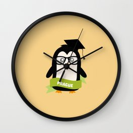 Penguin nerd from Prague T-Shirt for all Ages Wall Clock